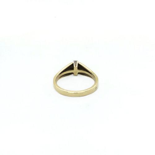 Goldring mit Diamant 14 krt