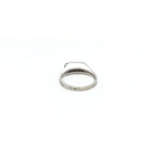 Witgouden ring met diamant 14 krt