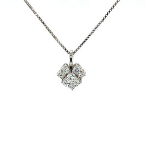 White gold pendant with diamond 18 krt