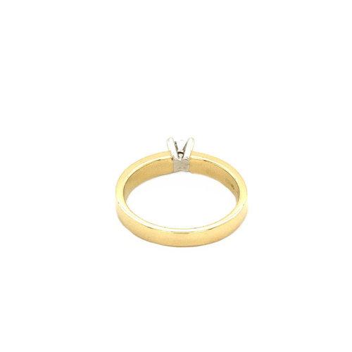 Gouden solitair ring met diamant 0.27ct. 14 krt* nieuw
