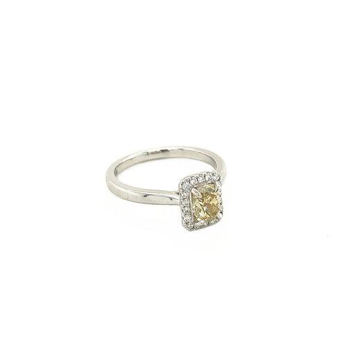 Weißgoldring mit 1,11 ct. Diamant 14 krt * neu