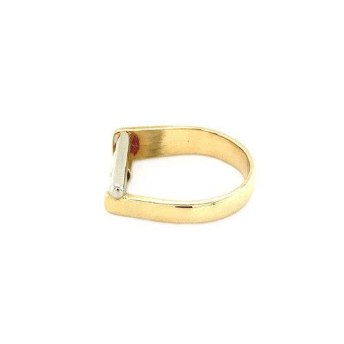 Gold fantasy ring 14 krt