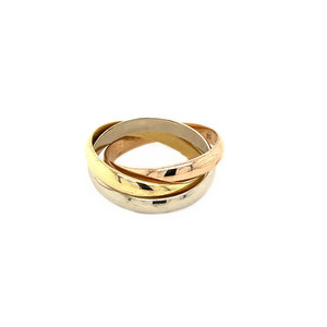 Tricolor gold ring by Cartier 18 krt