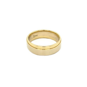 Gold men's ring bicolour 14 krt