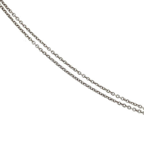 White gold necklace with solitaire pendant 14 krt * new