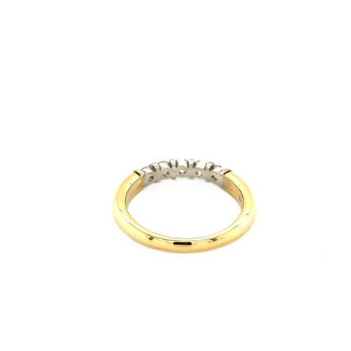 Goldener Ring mit Diamant 14 krt * neu