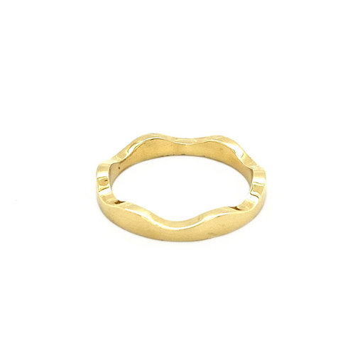 Gold wave ring 14 krt * new