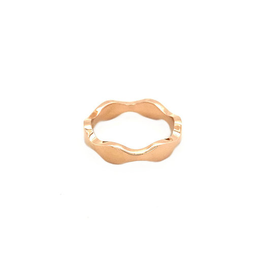 Rose gold wave ring 14 krt * new
