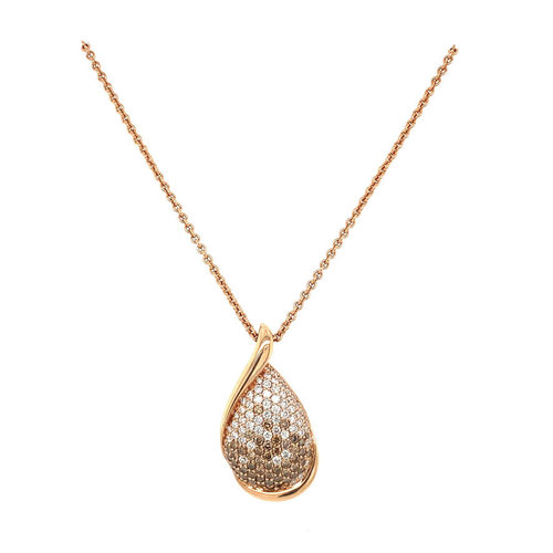 Rose gold necklace with diamond pendant 14 krt * new