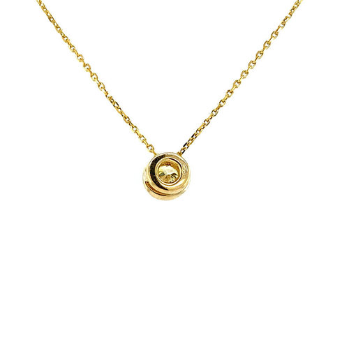 Gold necklace with solitaire / diamond pendant 14 krt * new