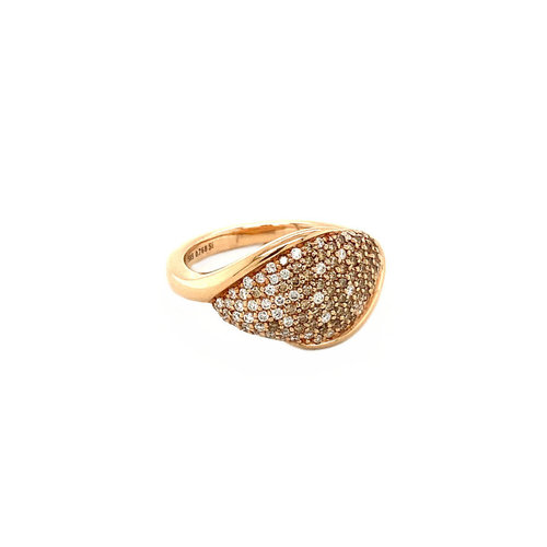 Roségold Ring mit Diamant 14 krt * neu
