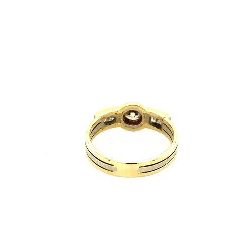Gouden ring met diamant 14 krt