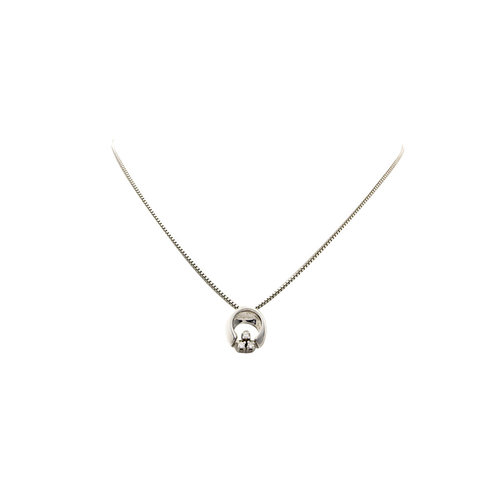 Weißgoldanhänger mit Diamant 14 krt