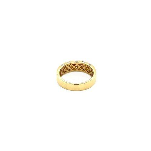 Gouden ring met diamant 18 krt
