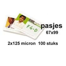 Badge Card 67X99mm 2x125mic. 100vel
