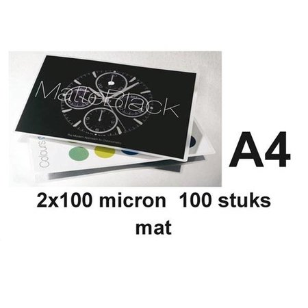 GBC Lamineerhoes GBCA4 2x100micron Mat 100vel