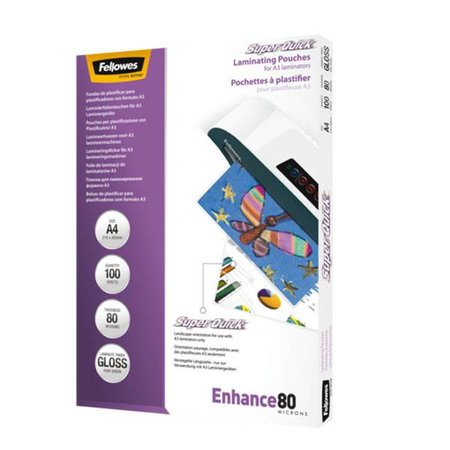 Fellowes Lamineerhoes Fellowes Superquick A4 2x80micron 100vel