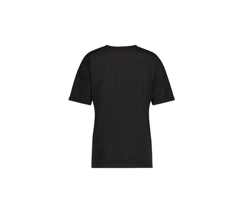 Tessie T-Shirt - Anthracite Snake Print