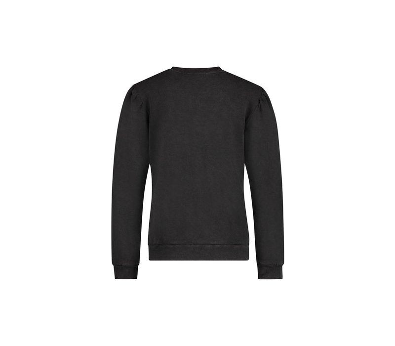 Sienna Sweater - Anthracite Logo Print