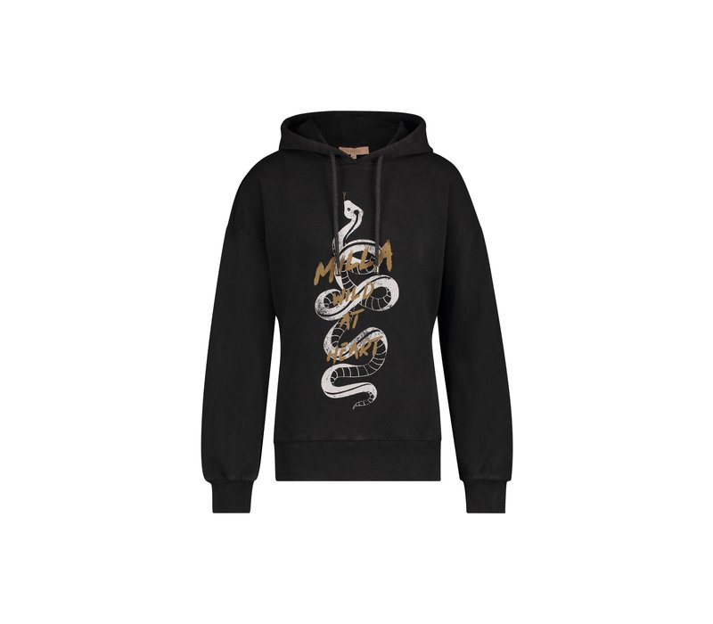 Sam Sweater - Anthracite Snake Print