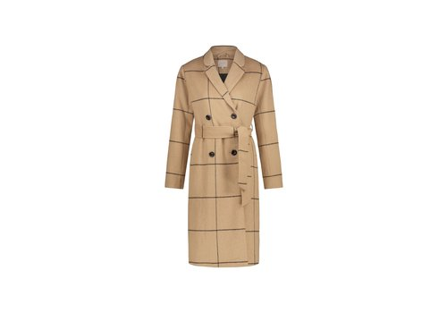 Marie Coat - Camel Checks