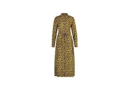 Dani Dress - Yellow Animal Print