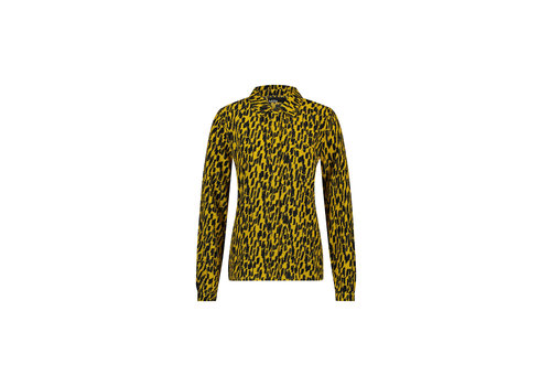 Belle Blouse - Yellow Animal Print