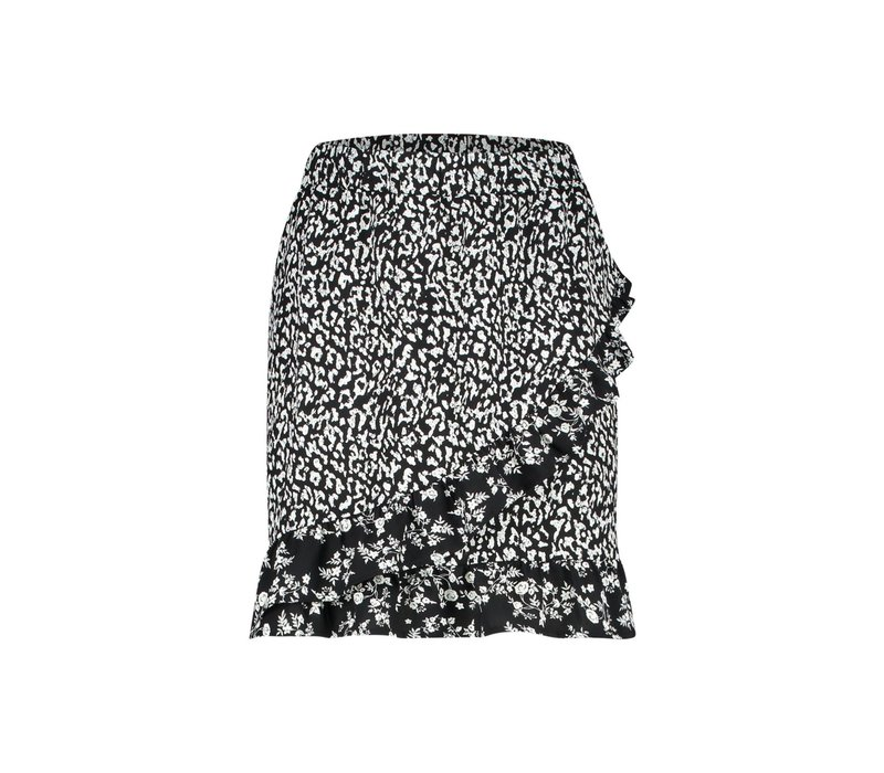 Rider Skirt - Black White Print