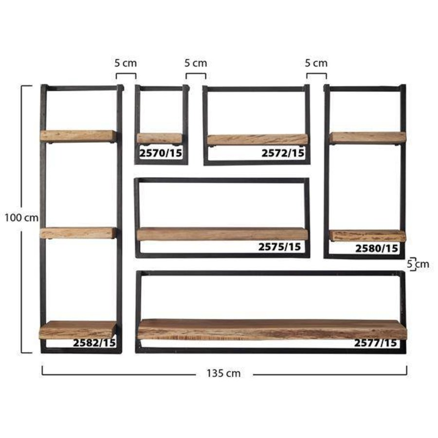 etag re murale jax 30cm acacia disponible chez furnwise. Black Bedroom Furniture Sets. Home Design Ideas
