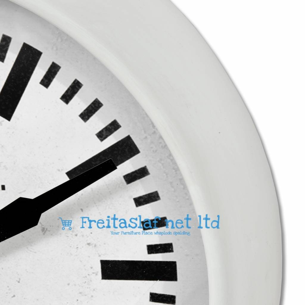 Hill Interiors White Retro Clock