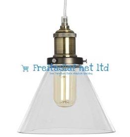 Glass Cone Pendant Lamp