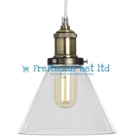 Hill Interiors Glass Cone Pendant Lamp