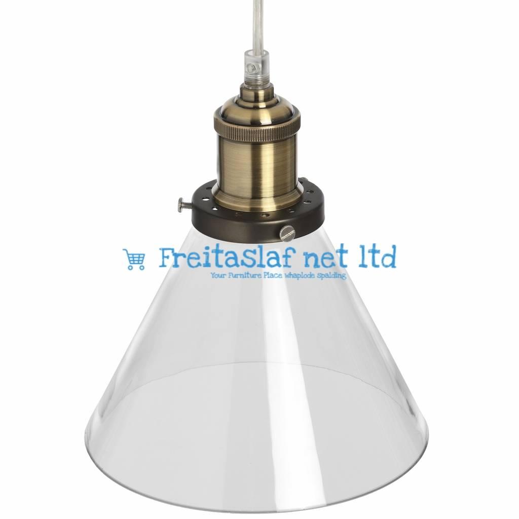Hill Interiors Glass Cone Pendant Lamp