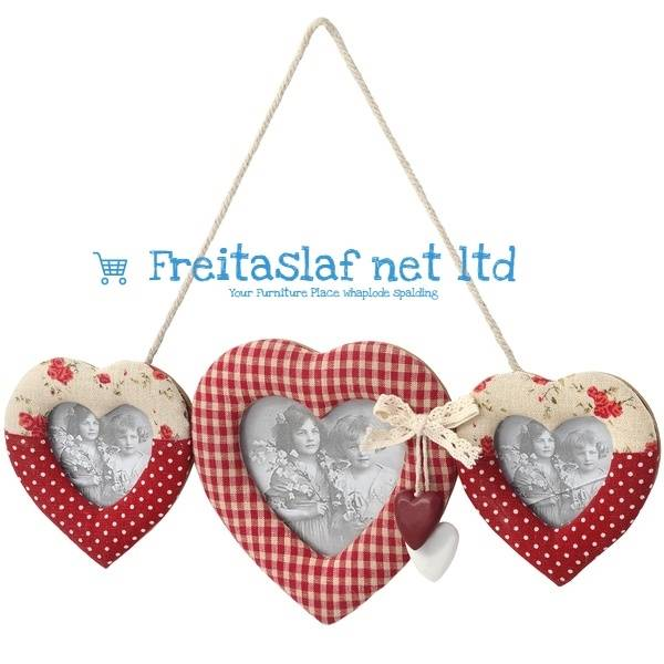 Hill Interiors Hanging 3 Way Heart Photo Frame