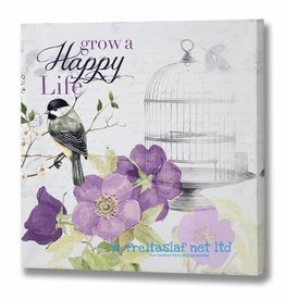 Hill Interiors Grow a Happy Life Canvas