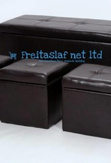 Stella 4 Piece Ottoman Storage in Black