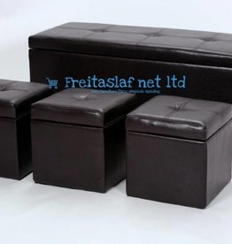 Stella 4 Piece Ottoman Storage in Black