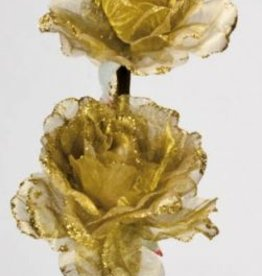 Hill Interiors Gold Flower Sprig