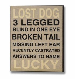 Hill Interiors Lost Dog Wooden Plaque