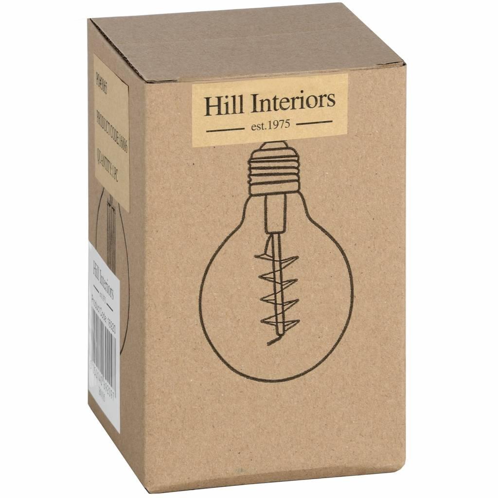 Hill Interiors Edison Filament Round Globe Bulb - Bayonet
