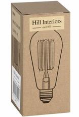 Hill Interiors Edison Filament Teardrop Squirrel Cage Bulb Bayonet
