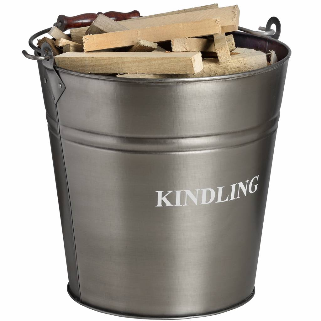 Hill Interiors Antique Pewter Kindling Bucket