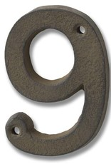 Hill Interiors Rustic Brown Cast Iron Numbers