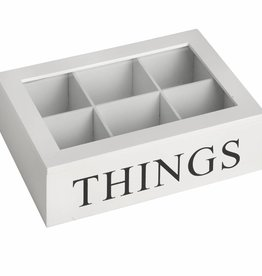Hill Interiors Things Box With Glass Lid