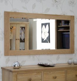 Opus Oak Large Wall Mirror