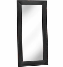 Noir Black Wooden Large Mirror