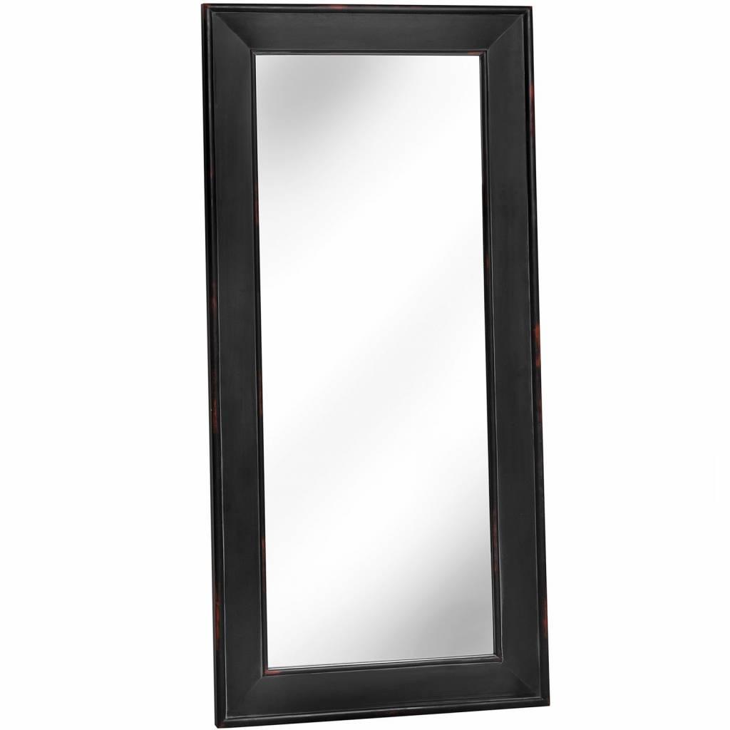 Hill Interiors Noir Black Wooden Large Mirror- 180 cm