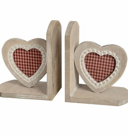 Hill Interiors Heart Bookends