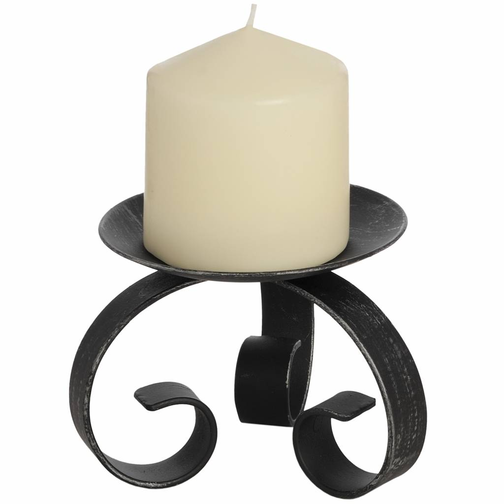 Hill Interiors Brushed Silver Candle Holder