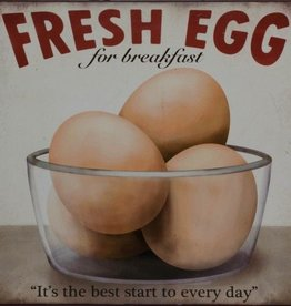 Fresh Eggs Tin Plaque